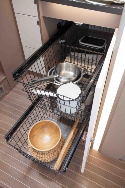 Küchenauszug inkl. zwei Einlegekörbe
