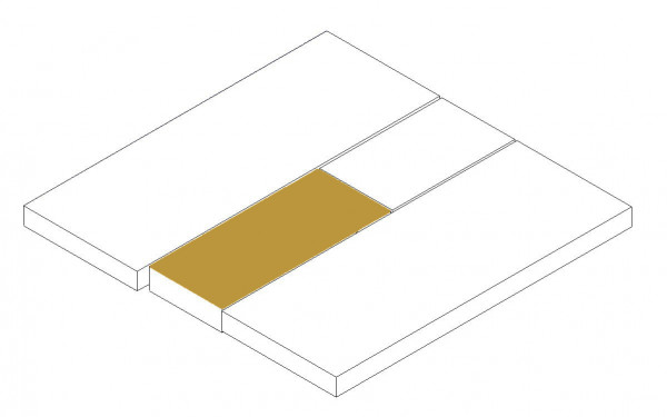 Mattress topper middle section below (option double bed)